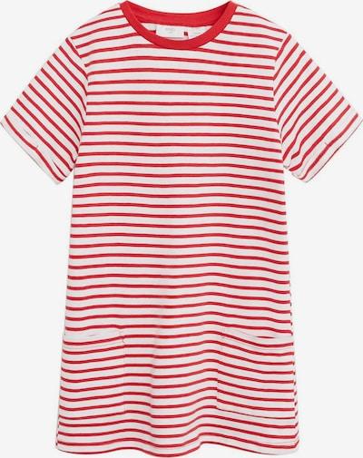 MANGO KIDS Kleid 'Raya' in rot / weiß, Produktansicht