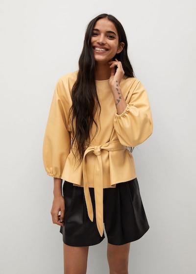 MANGO Bluse 'Blanca' in pastellgelb, Modelansicht