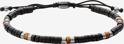 FOSSIL Armband in dunkelgelb / schwarz / silber, Produktansicht