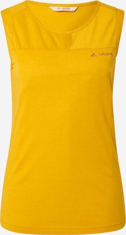 VAUDE Sports Top 'Skomer' in Yellow