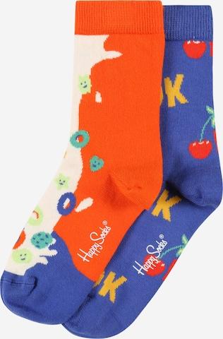 Happy Socks Socken 'Okay Cereals' in Orange