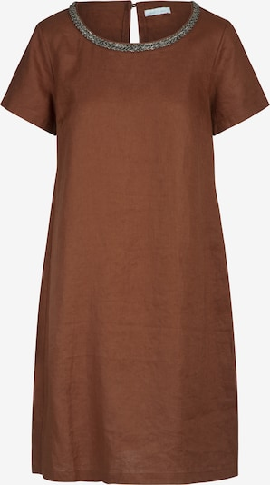 mint & mia Kleid mit Perlen mit Rundhalsausschnitt in braun, Produktansicht