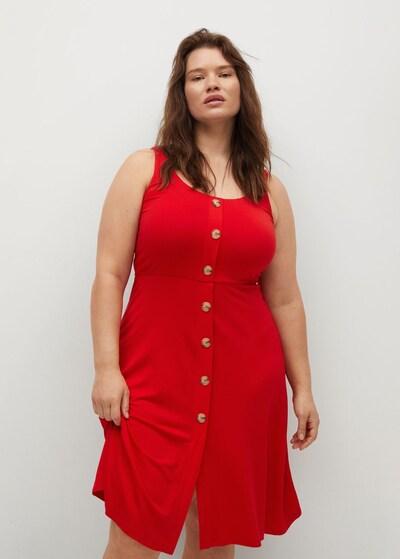 Rochie tip bluză VIOLETA by Mango pe roșu, Vizualizare model