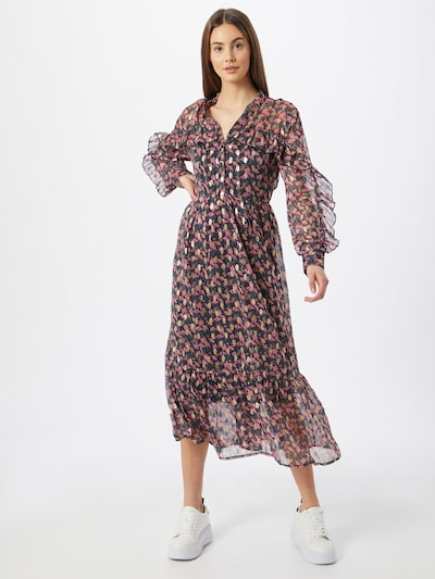 JACQUELINE de YONG Kleid 'SELINA' in dunkelblau / pink, Modelansicht