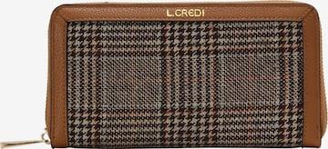 L.CREDI Brieftasche 'HERMILA' in Braun