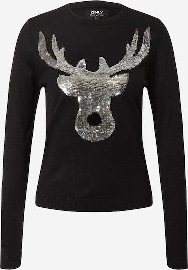 ONLY Pullover 'Xmas' in schwarz / silber, Produktansicht