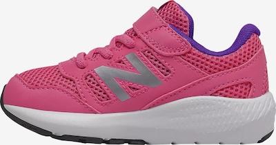 new balance Sneaker in silbergrau / lila / neonpink, Produktansicht