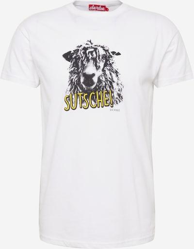 Derbe Shirt 'Schaap' in gelb / graphit / weiß, Produktansicht