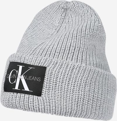 Calvin Klein Jeans Beanie in Grey / Black / White, Item view