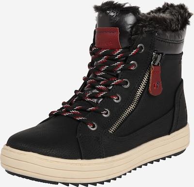 TOM TAILOR Škornji za v sneg | siva / temno rdeča / črna / bela barva, Prikaz izdelka