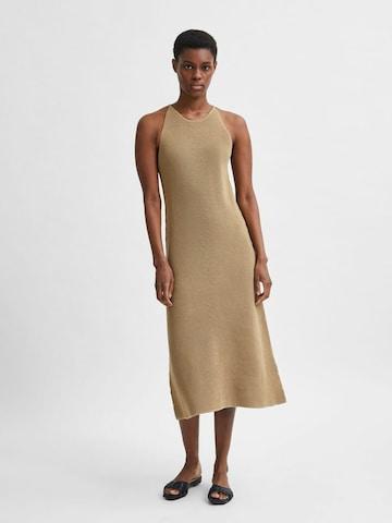 Robes en maille 'Maxa' SELECTED FEMME en marron
