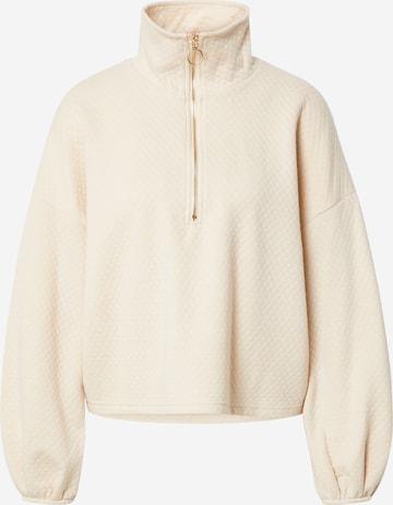 SISTERS POINT Sweatshirt 'VIASA' in Beige