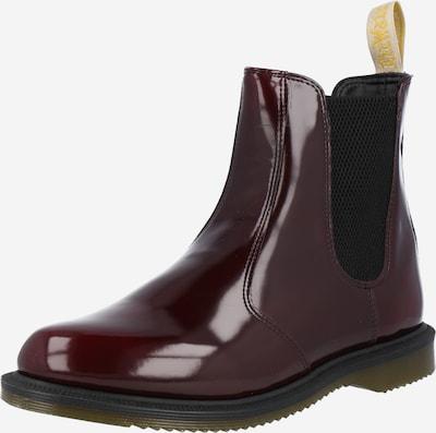 Dr. Martens Chelsea Boots 'VEGAN FLORA' en bourgogne, Vue avec produit