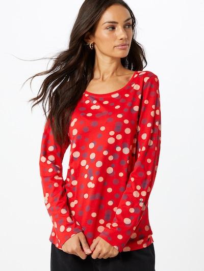 ESPRIT Shirt 'Noos' in mischfarben / rot: Frontalansicht