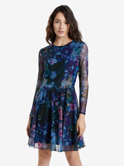 Desigual Šaty 'QAIS' - světle béžová / světlemodrá / tmavě zelená / tmavě fialová / světle růžová, Model/ka