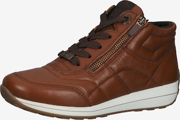 ARA High-Top Sneakers in Brown