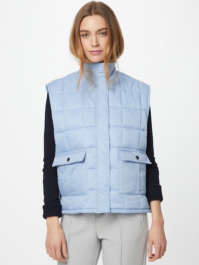 MADS NORGAARD COPENHAGEN Vest 'Duvet Dream Vibe' in Light blue, View model
