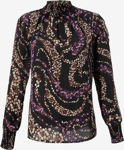Aniston CASUAL Bluse in beige / braun / dunkellila / pink, Produktansicht
