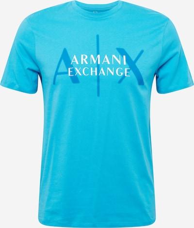 ARMANI EXCHANGE T-Krekls zils / balts, Preces skats
