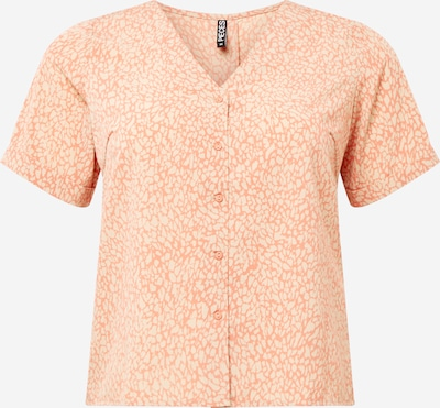 PIECES (Curve) Blouse 'GILBERTA' in de kleur Beige / Perzik, Productweergave