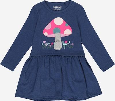 STACCATO Robe en bleu foncé / gris clair / mélange de couleurs / rose / blanc, Vue avec produit