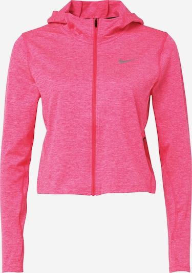 NIKE Sportovní bunda - béžová / šedý melír / pink, Produkt