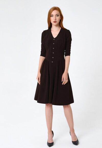 Madam-T Kleid 'Daisy' in braun, Modelansicht