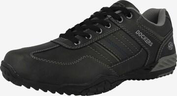 Chaussure de sport à lacets '44BN015' Dockers by Gerli en noir