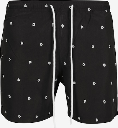 Urban Classics Board Shorts in Black / White, Item view