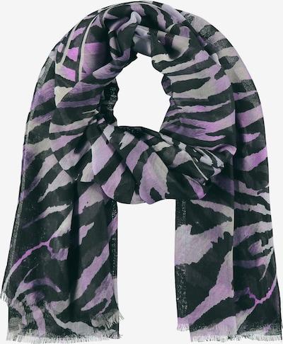 SAMOON Schal mit Animal-Print in lila / schwarz, Produktansicht