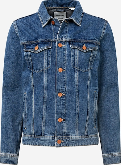 JACK & JONES Jacke 'JEAN' in blue denim / hellgrün, Produktansicht