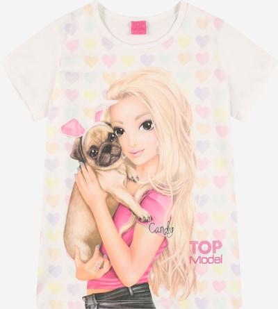 TOP MODEL T-Shirt en mélange de couleurs / blanc, Vue avec produit