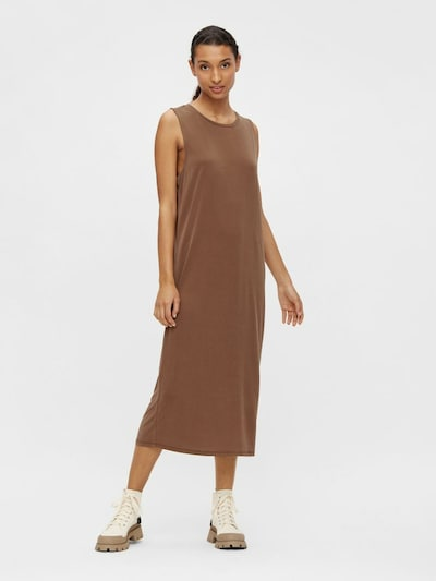 OBJECT Kleid 'ANNIE' in braun, Modelansicht