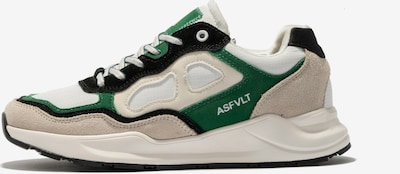 ASFVLT Sneakers in Beige / Green / White, Item view