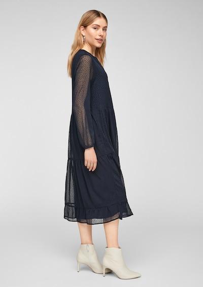 s.Oliver Kleid in dunkelblau, Modelansicht