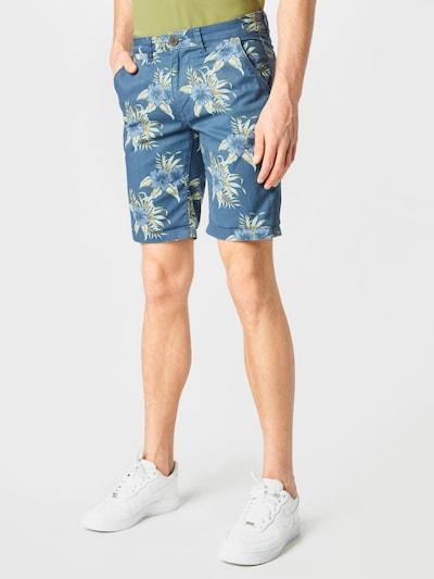 BLEND Kalhoty - nebeská modř / zelená, Model/ka