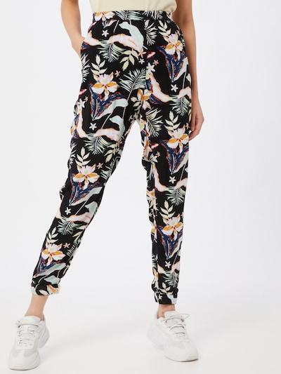 ROXY Pantalon en mélange de couleurs / noir, Vue avec modèle