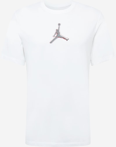 Jordan T-Shirt in grau / rot / weiß, Produktansicht
