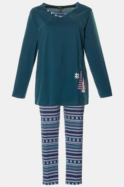 Ulla Popken Pyjama in petrol, Produktansicht