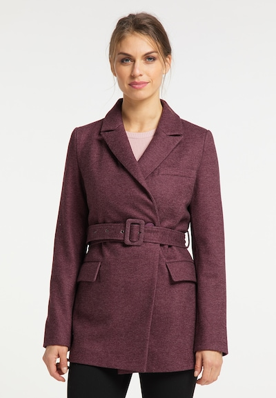 usha BLACK LABEL Between-Seasons Coat in Crimson, View model