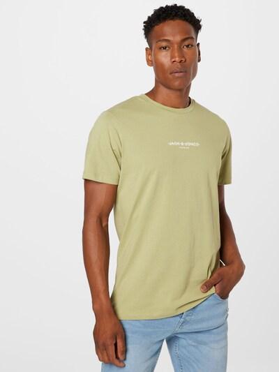 JACK & JONES Тениска в ябълка / бяло: Изглед отпред
