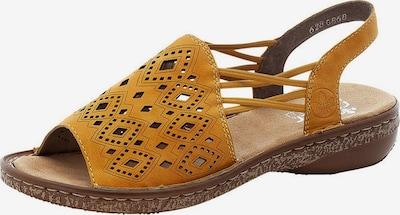 Sandale RIEKER pe galben miere, Vizualizare produs