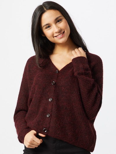 Esprit Collection Strickjacke in bordeaux, Modelansicht