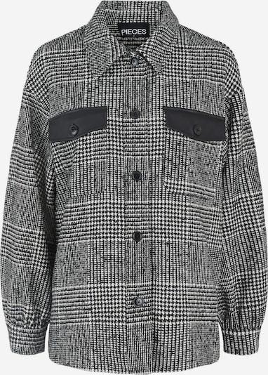 PIECES Jacke in schwarz / weiß, Produktansicht