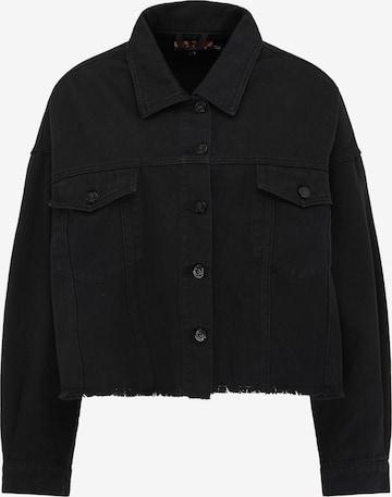 myMo ROCKS Φθινοπωρινό και ανοιξιάτικο μπουφάν σε μαύρο