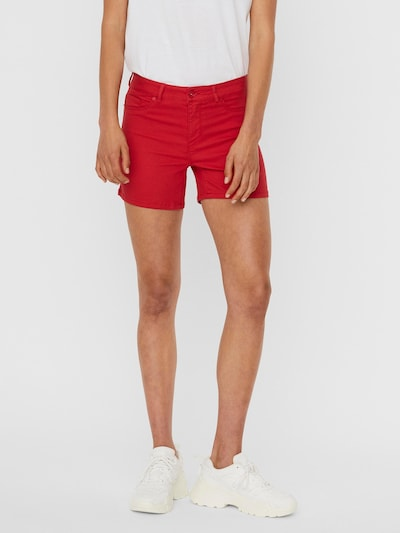 VERO MODA Shorts 'Hot Seven' in cranberry, Modelansicht