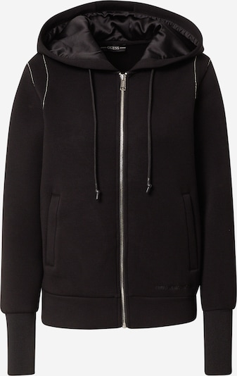 GUESS Sweatjacke in schwarz, Produktansicht