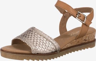 GABOR Sandale in hellbraun / gold, Produktansicht