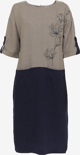 Finn Flare Kleid mit zweifarbigem Design in schlammfarben, Produktansicht