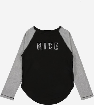 NIKE Functioneel shirt 'Trophy' in de kleur Grijs / Zwart / Wit, Productweergave